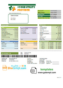 # crimson ville universal multipurpose utility bill template in Word format