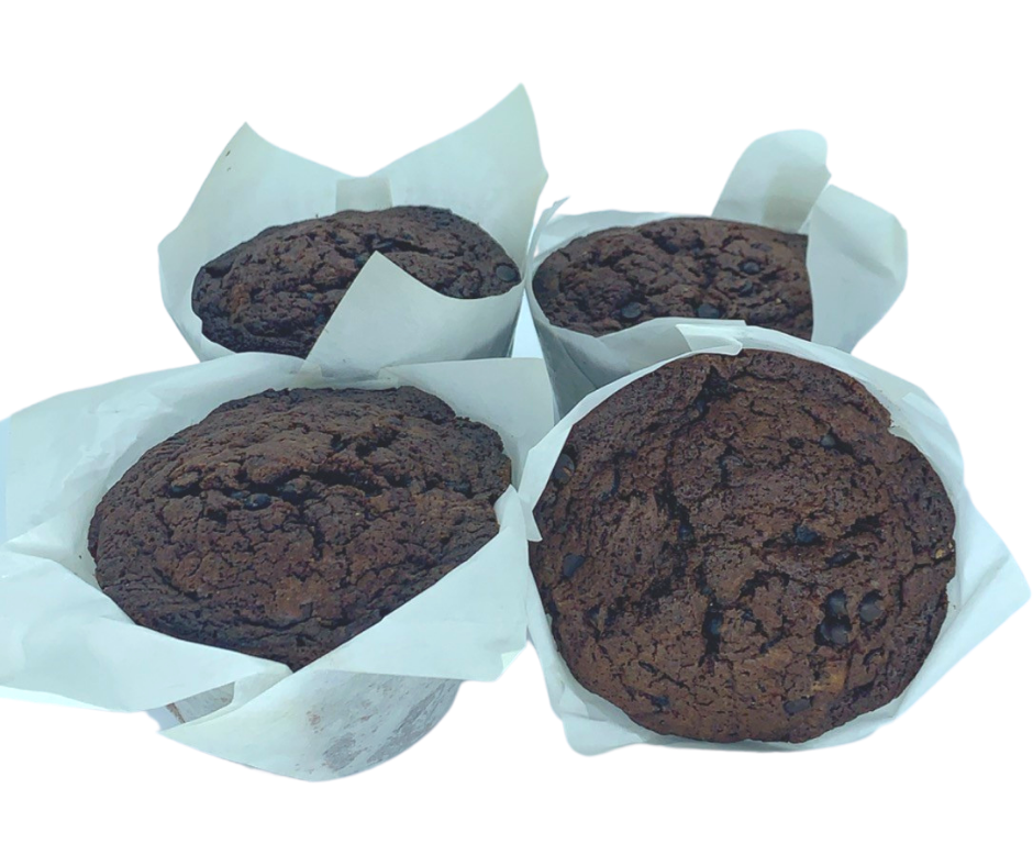 Double Chocolate Muffin (4-Pack) - Wild Breads