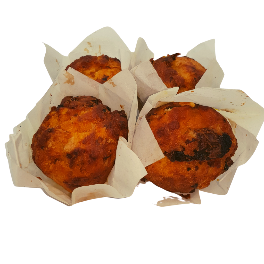 Sol Sundried Tomato Bacon Muffin (4 Pack) - Wild Breads