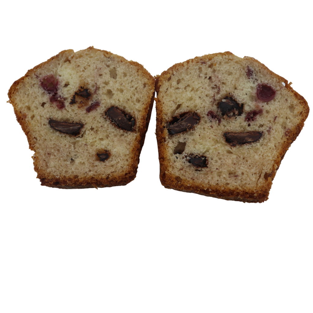 Sour Cherry and Chunky Choc Muffin (4-Pack) - Wild Breads