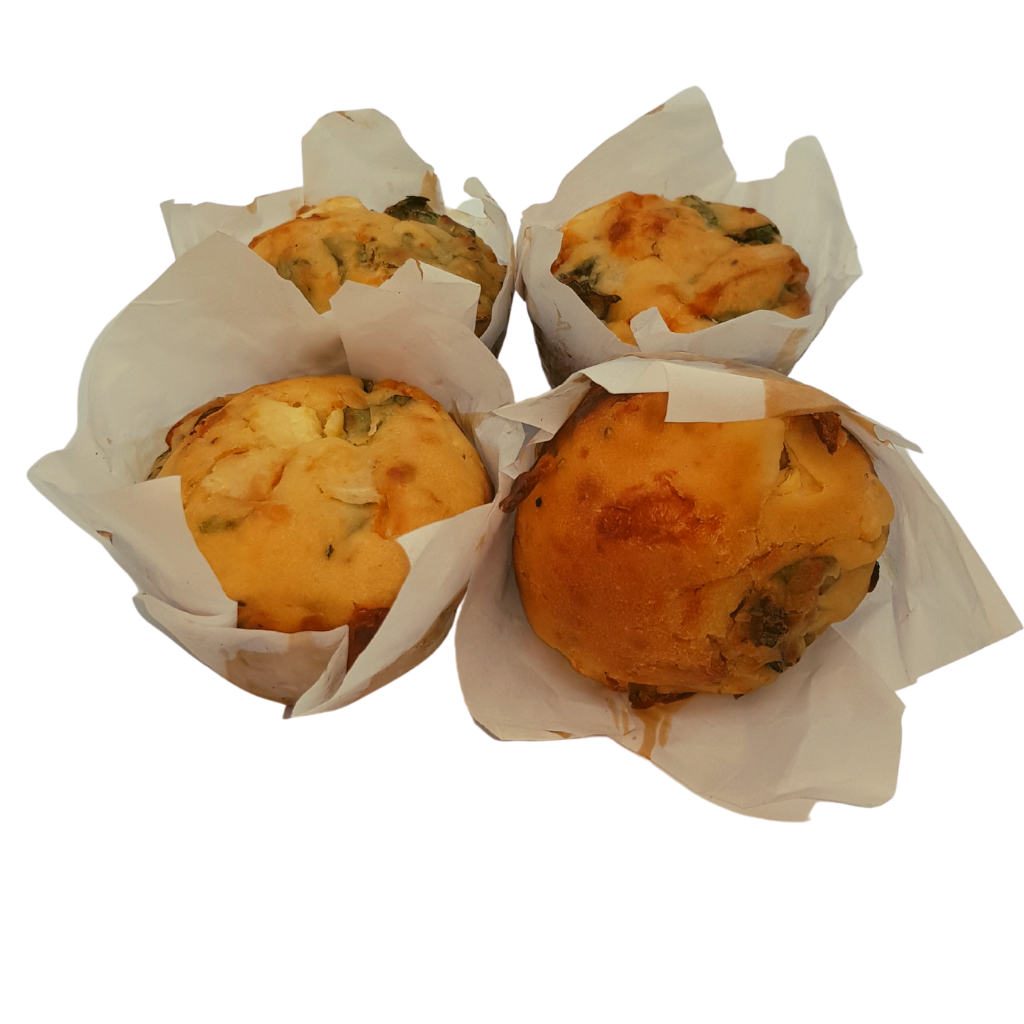 Sol Spinach Fetta Muffin (4 Pack) - Wild Breads