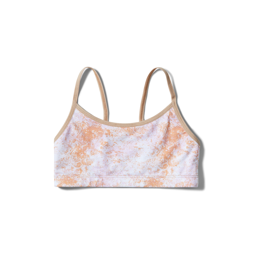 Straight straps Orange splatter + Tan