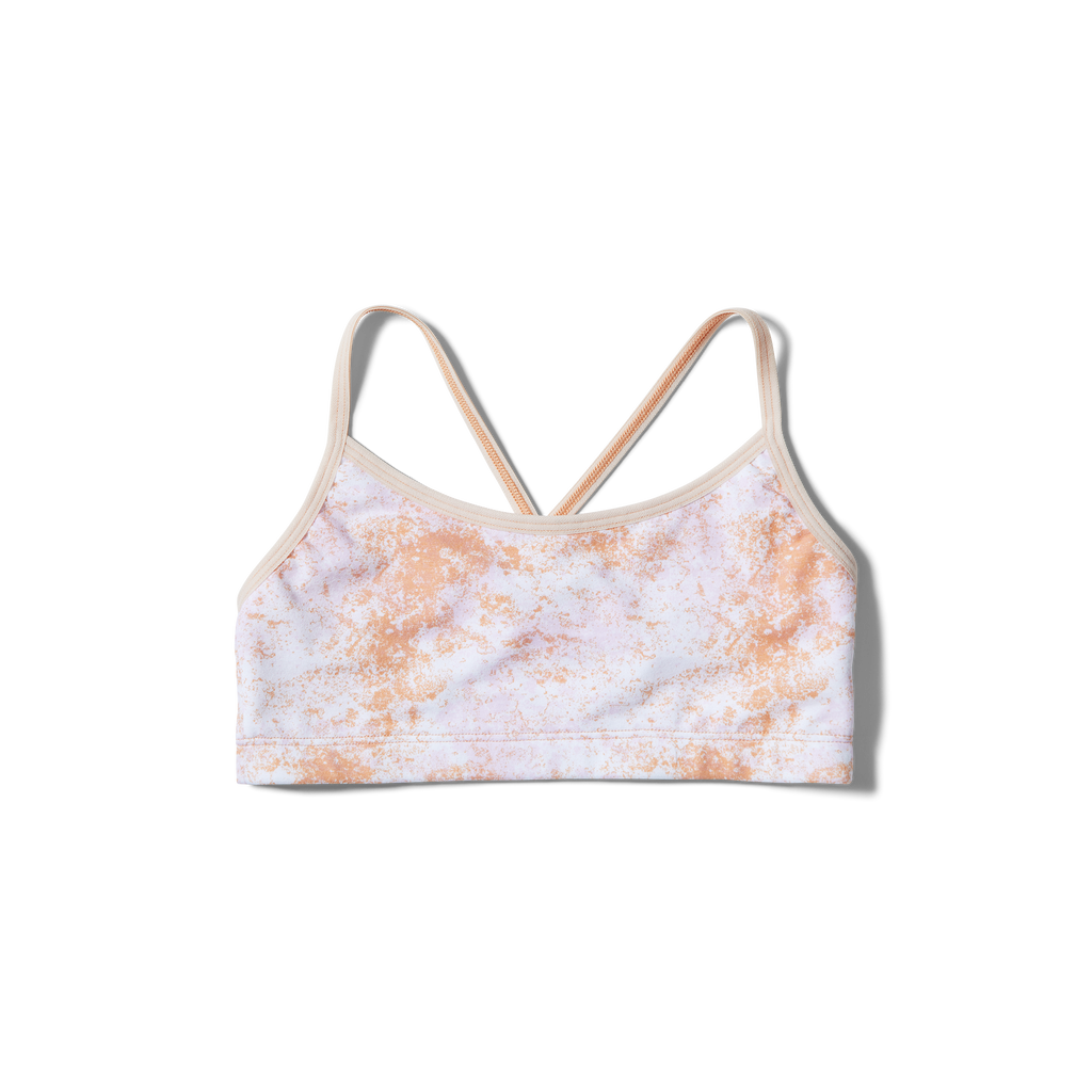 Crossed straps Orange splatter + Blush