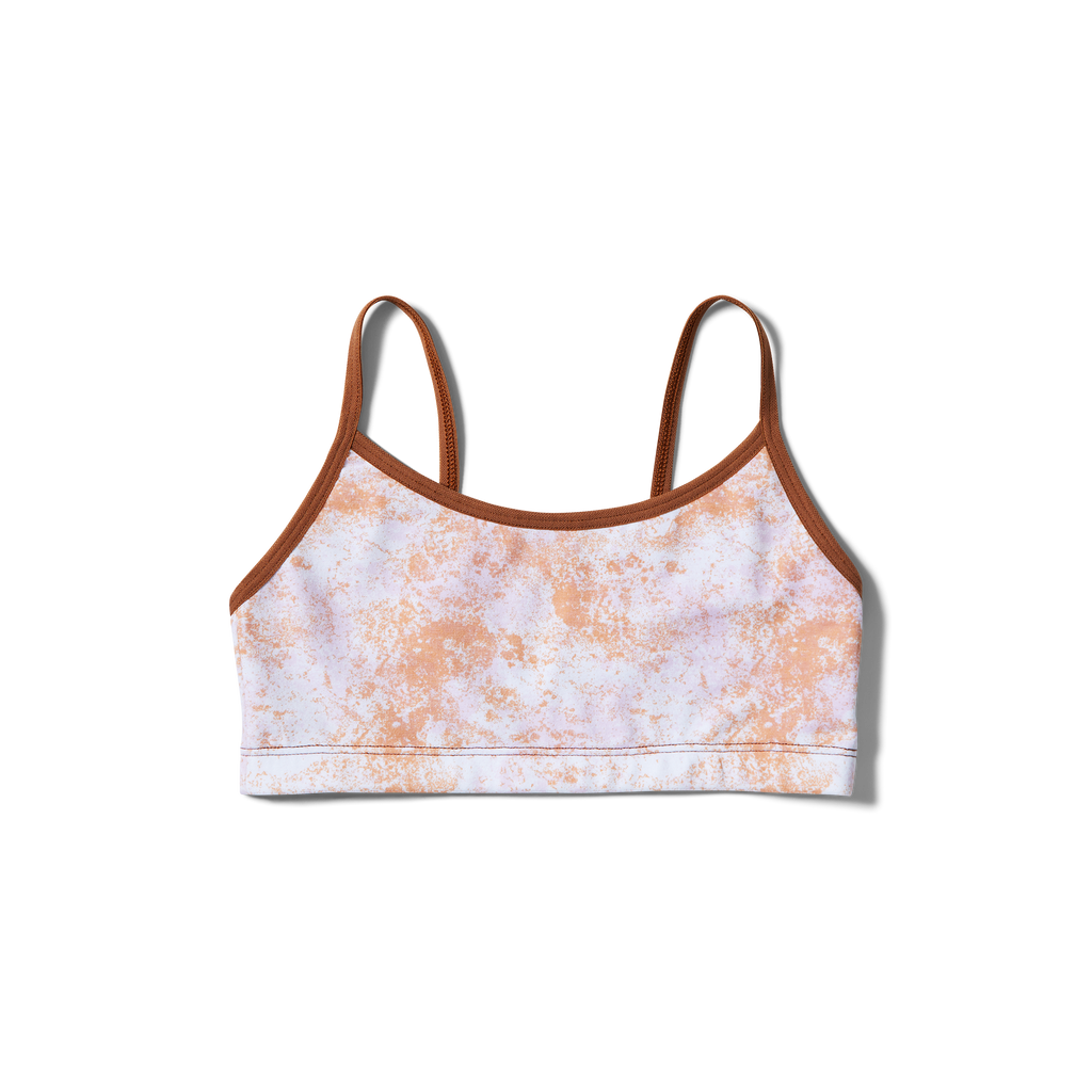 Straight straps Orange splatter + Bronze