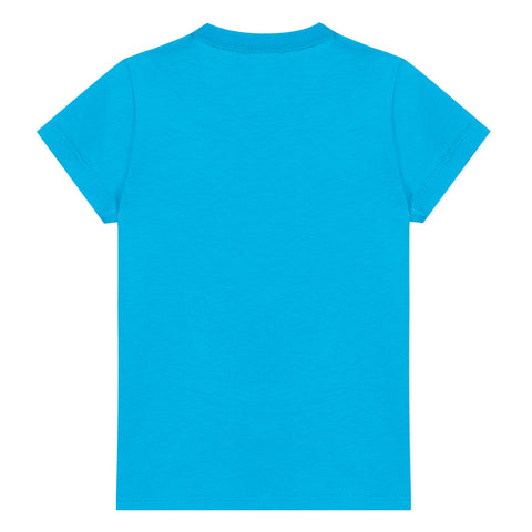 Blue T-shirt with rollercoaster