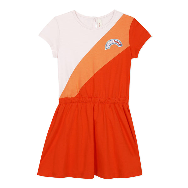 Orange T-shirt dress