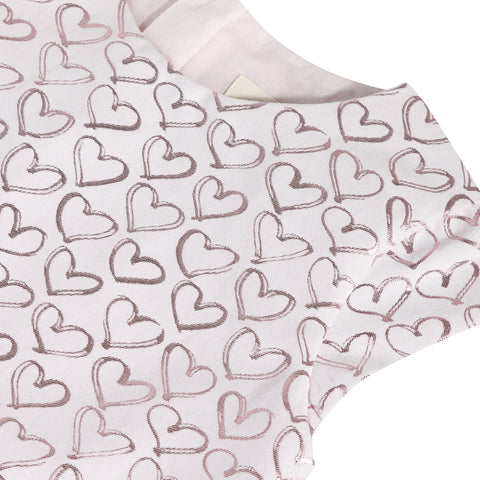 Pink heart jacquard dress