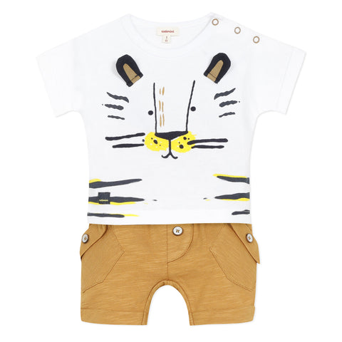 Tiger T-shirt and short set