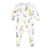 Safari print footie pajama
