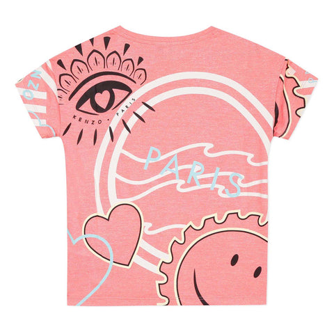 Pink T-shirt with icons