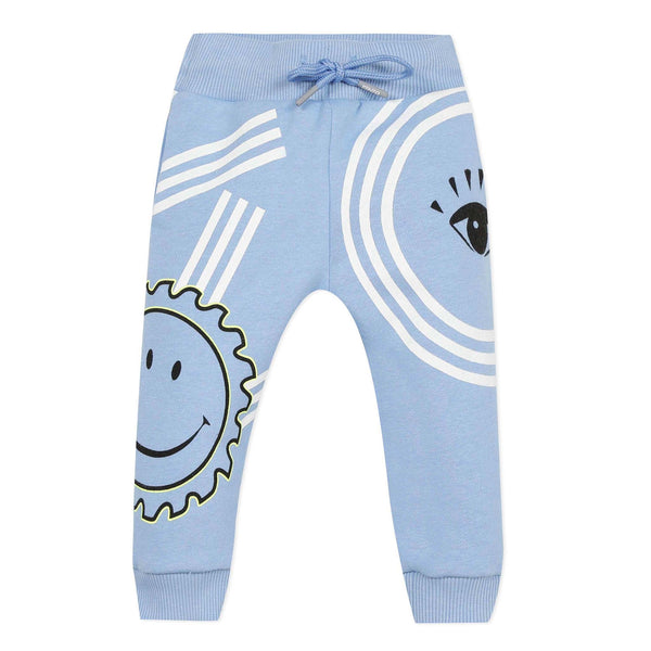 Multi iconic blue joggers