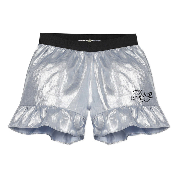 Silver flowing shorts