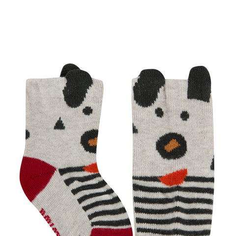 Funny sheep jacquard socks with 3D details