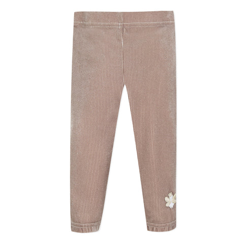 Taupe baby girl legging