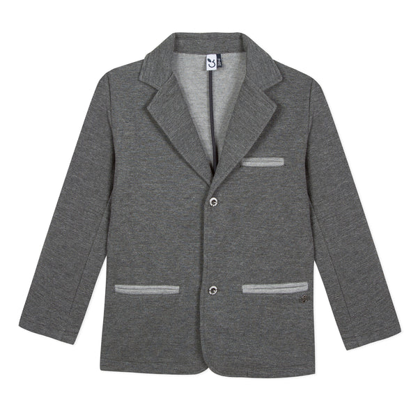 Dark heather grey kid boy outerwear