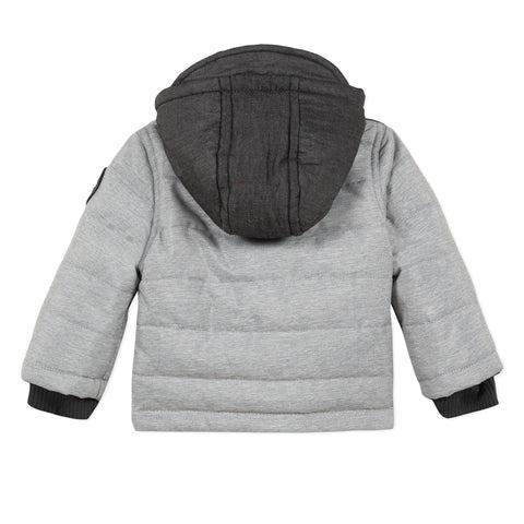 Dark heather grey baby boy outerwear