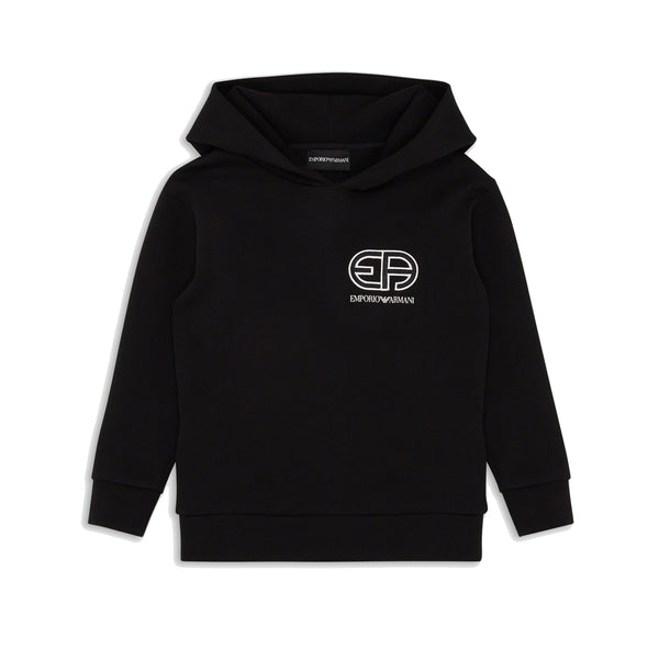 Black hoodie with R-Eacreate vintage logo