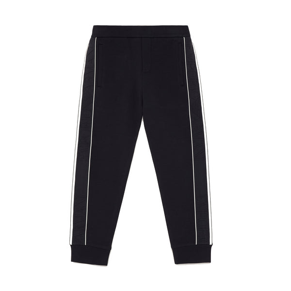 Black joggers with jacquard logo