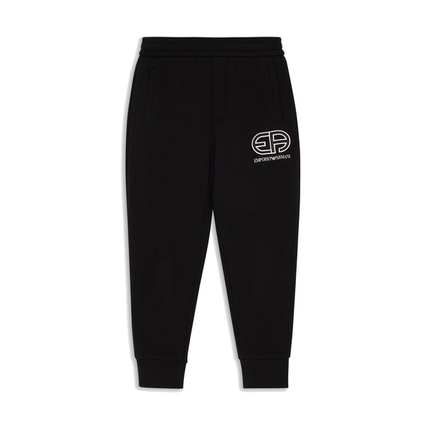 Black joggers with R-Eacreate vintage logo