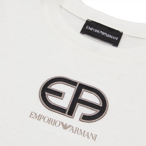 White T-shirt with R-Eacreate vintage logo