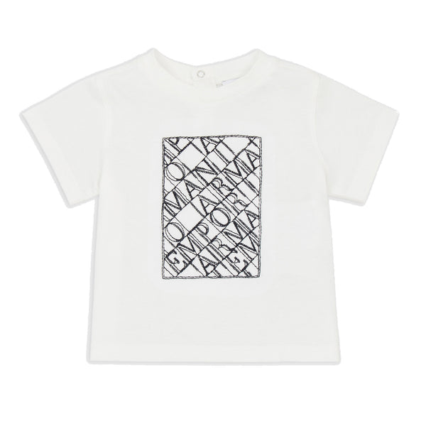 White T-shirt with stencilled logo