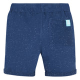 Navy blue fleece bermuda shorts