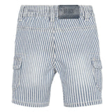 Blue striped shorts