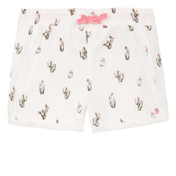 Lightweight shorts with cactus print