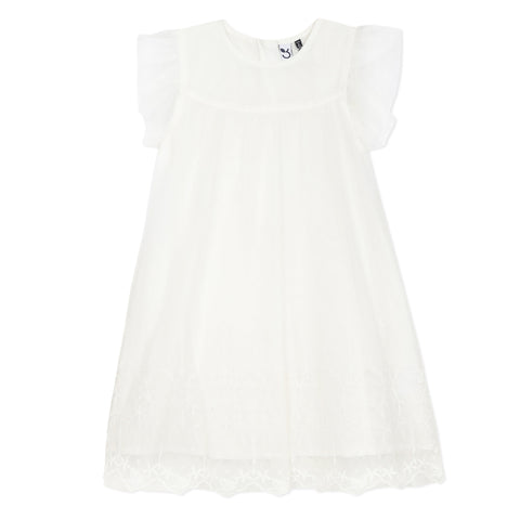 Embroidered white tutu dress
