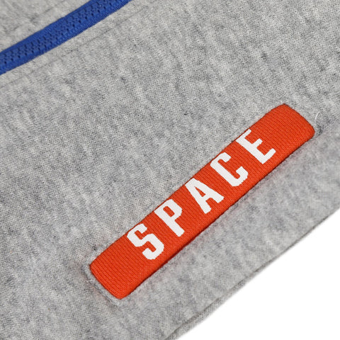 Grey fleece zip-up hoodie