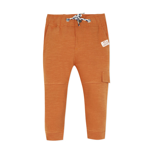 Camel regular fitted fleece pants