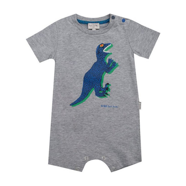 Grey romper with dino visual