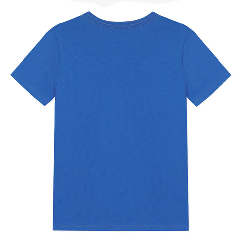 Blue T-shirt with mountain visual
