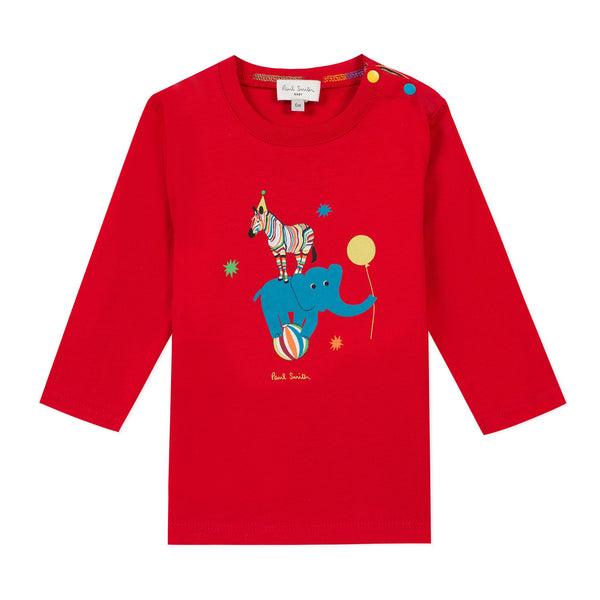 *NEW*  Red T-shirt with circus visual