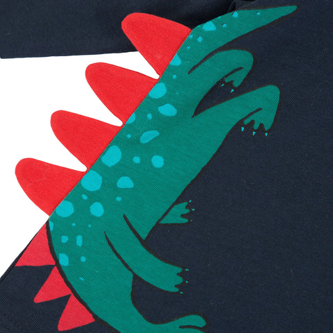 *NEW*  Navy blue T-shirt with dinos