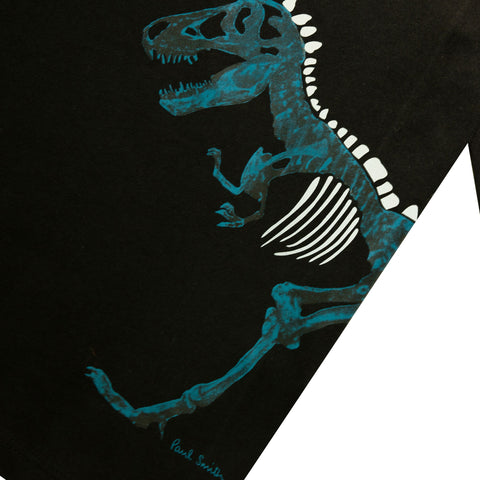 *NEW*  Glow-in-the-dark black T-shirt with dino visual