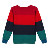 Colorblock cotton cashmere sweater