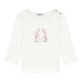 Beige T-shirt with bunny design