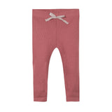 Raspberry pink knit leggings