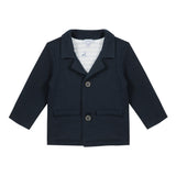 Chic navy blue blazer jacket