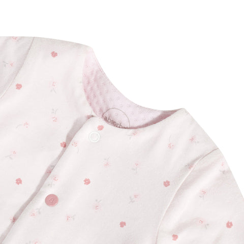 Quilted and printed pink pajamas