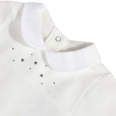 Baby girl velvet pajamas with Swarovski ® crystals