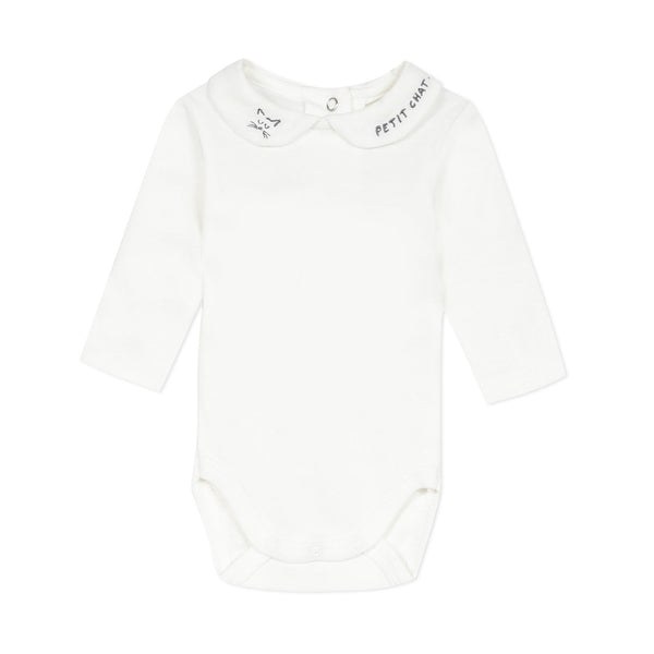 Unisex bodysuit with embroidery