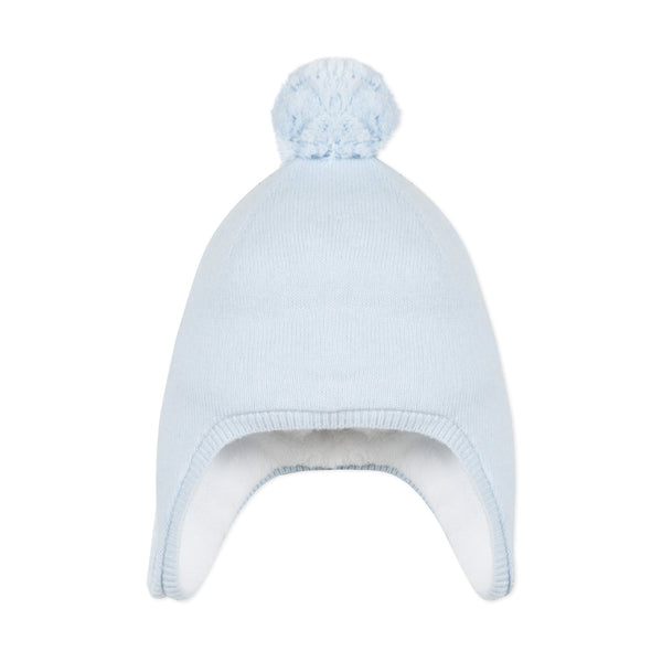 *NEW* Knitted and faux fur baby boy hat