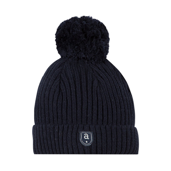 *NEW* Navy blue winter hat with pompom
