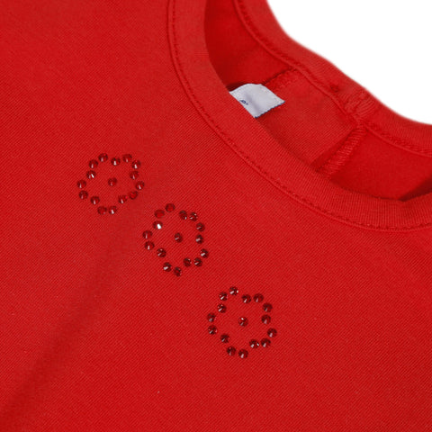 Red T-shirt with Swarovski® crystals