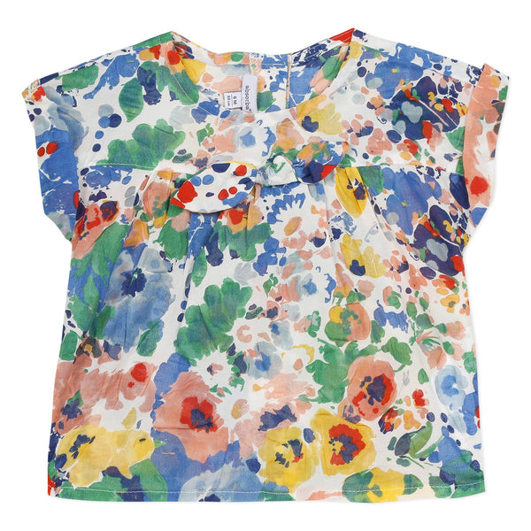 Printed flower blouse