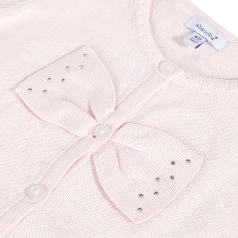 Pink Cardigan with Swarovski®crystalas