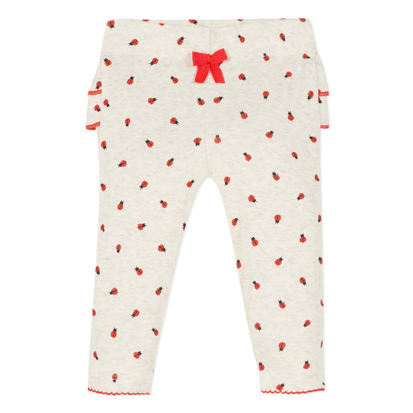 Printed pants with ladybird print