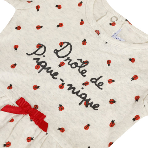 Printed dress with ladybirds